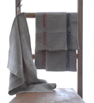 Pure linen tea towels with special thank you woven detail