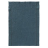 Pure linen tea towel in vintage blue