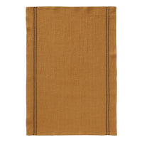 Linen tea towel in vintage ochre