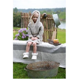 Child's Pre-washed Hooded Linen Bath Robe with 2 Pockets