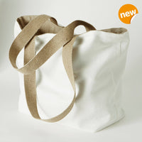 pure linen shopping bag in white