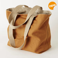 Vintage wood linen shopping bag