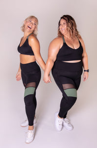Everyday Mesh Panel Legging (black)