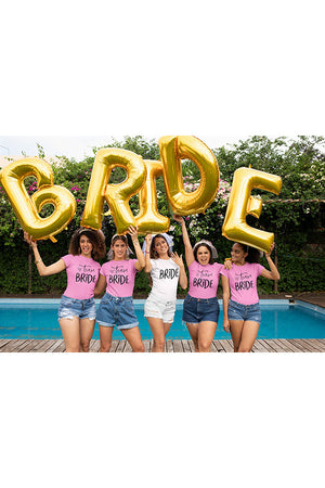 be lorette bachelorette party shirt with black print