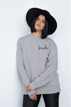 be lorette pull ou sweat evjf en coton Bride gris