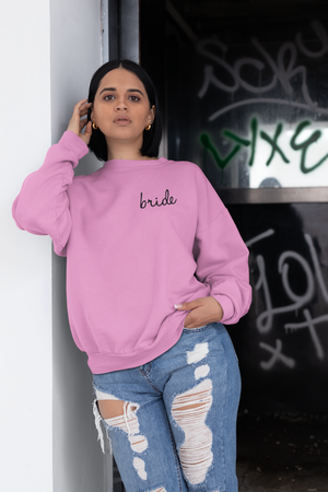 be lorette pull ou sweat evjf en coton Bride rose