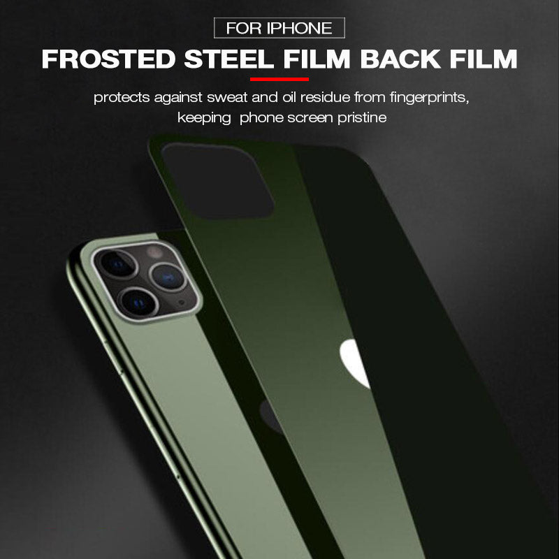 Frosted Steel film back film for iPhone