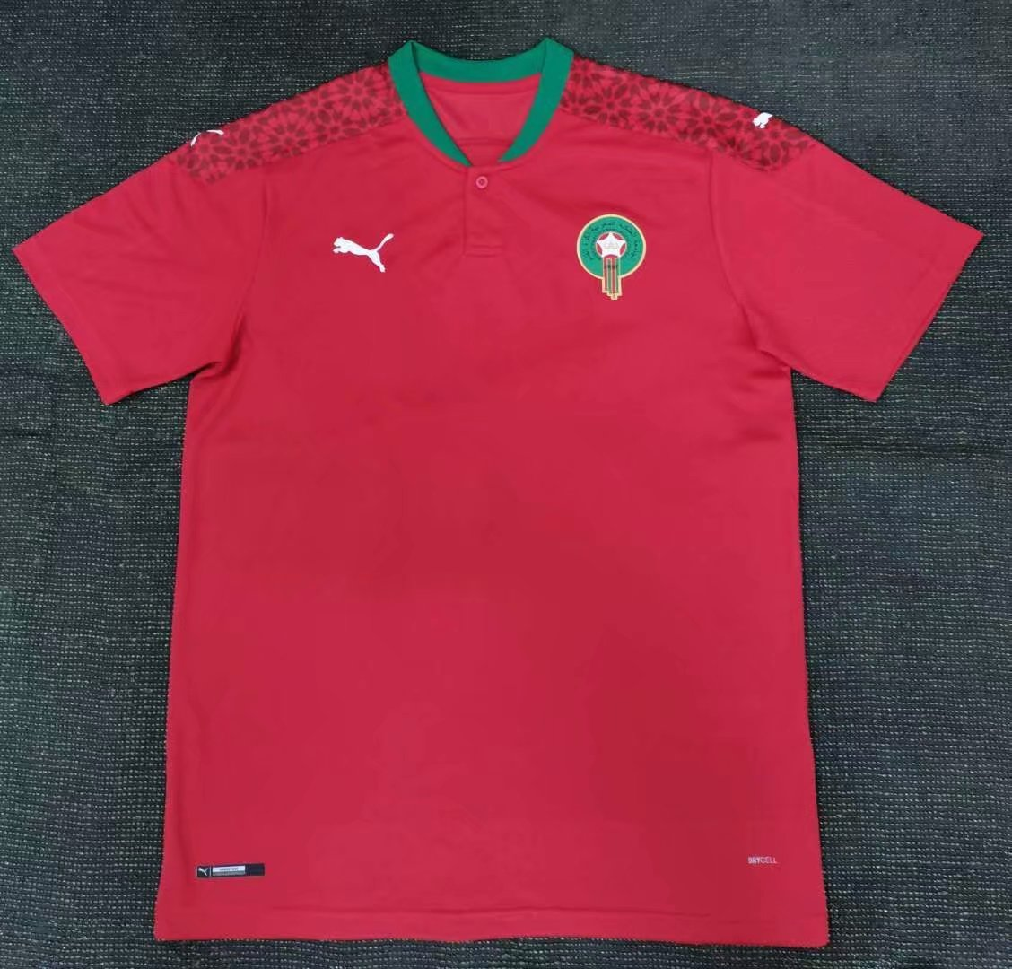 maillot maroc 2021 rouge pro foot x