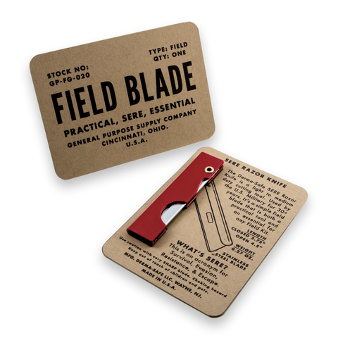 field kits red folding razor knife for survival kits
