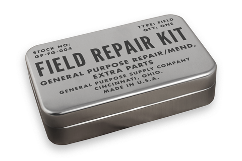 small metal tin for repair kit