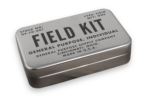 a retro inspired survival kit by field kits
