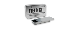 accessory kit with a field kit tin
