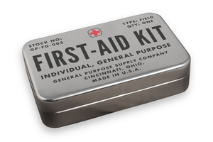 a retro inspired first aid kit by field kits