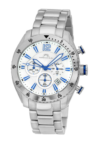 Porsamo Bleu Taylor luxury chronograph men's stainless steel watch, silver 621ATAS