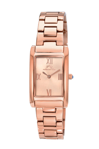 Porsamo Bleu Karla luxury women's stainless steel watch, interchangeable bands, rose 961CKAS