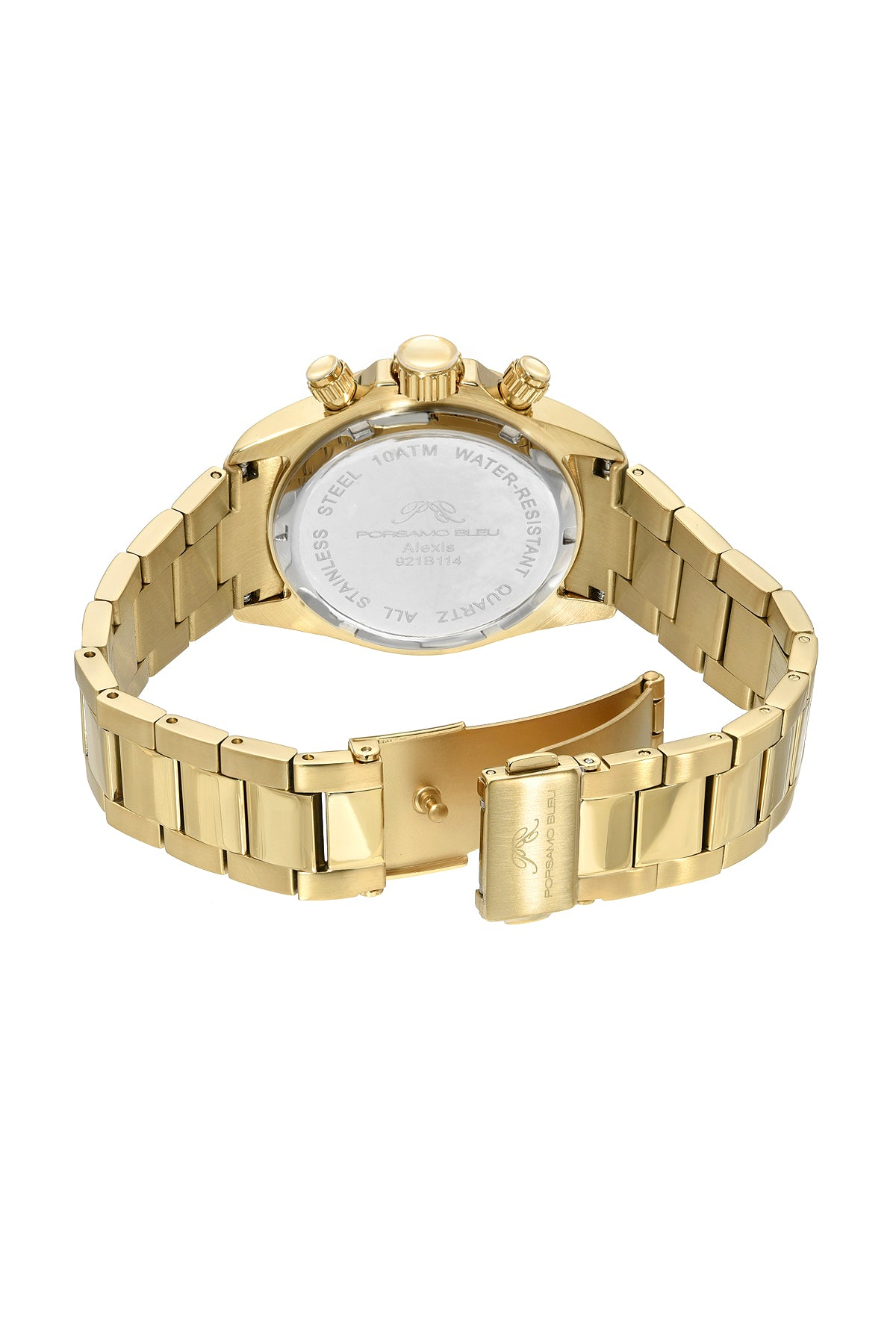 Porsamo Bleu Alexis luxury Women's watch stainless steel, gold, white, 921BALS