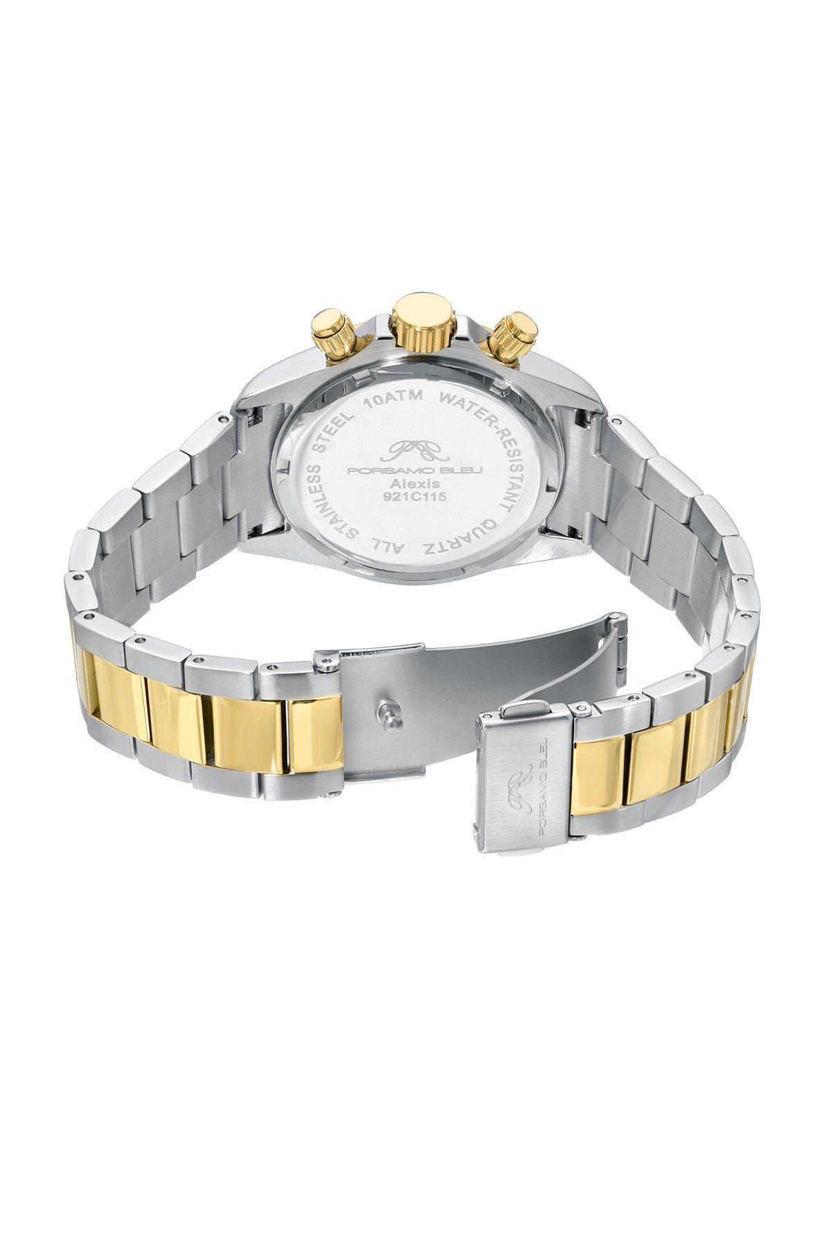 Porsamo Bleu Alexis luxury Women's watch stainless steel, silver, gold, white, 921CALS