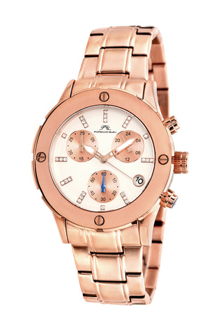 Porsamo Bleu Charlotte luxury chronograph women's stainless steel watch, rose 381CCHS