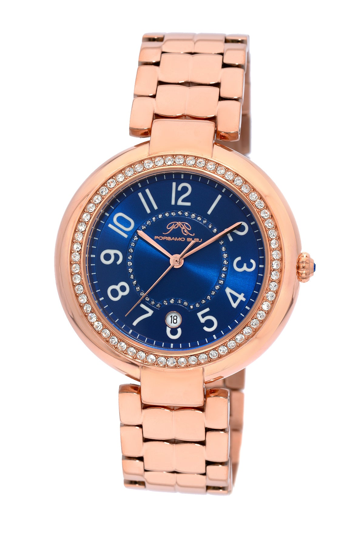 Porsamo Bleu Sofia luxury women's stainless steel watch, rose, blue 952CSOS