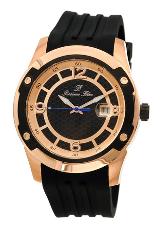 Porsamo Bleu Tokyo luxury Automatic men's watch, silicone strap, rose, black 171CTOR