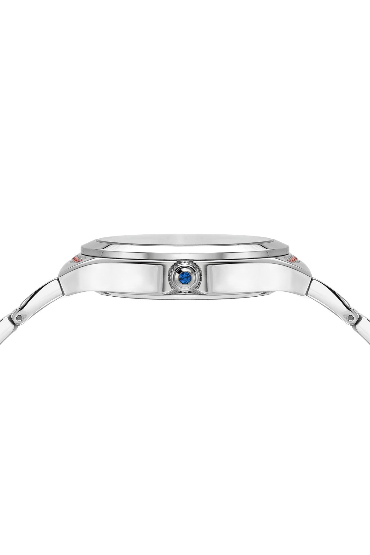 Porsmao Bleu Carmen luxury women's stainless steel watch, silver, red 991BCAS