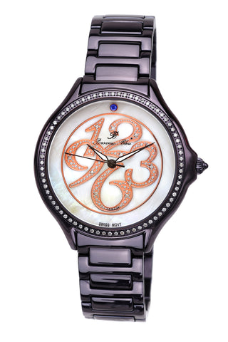 Porsamo Bleu Paris luxury diamond women's stainless steel watch, purple 131CPAS