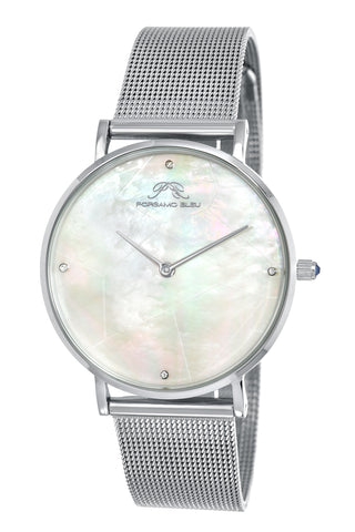 Porsamo Bleu Paloma luxury diamond women's watch, interchangeable bands, silver, white, grey 851APAS
