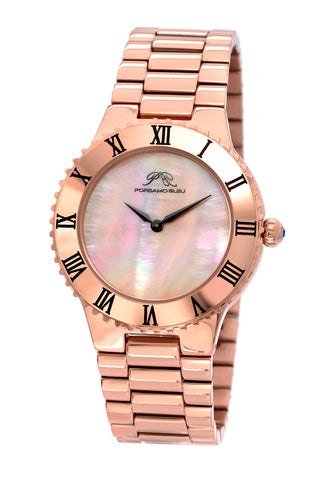 Porsamo Bleu Lexi luxury women's stainless steel watch, rose 941CLES