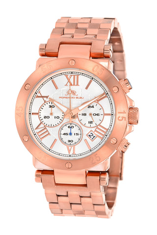 Porsamo Bleu Sasha luxury chronograph men's stainless steel watch, rose, white 441CSAS