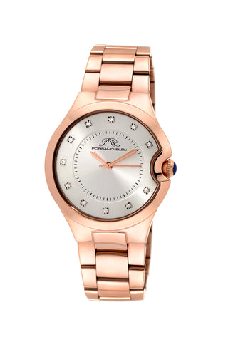 Porsamo Bleu Emilia luxury diamond women's stainless steel watch, rose 821CEMS