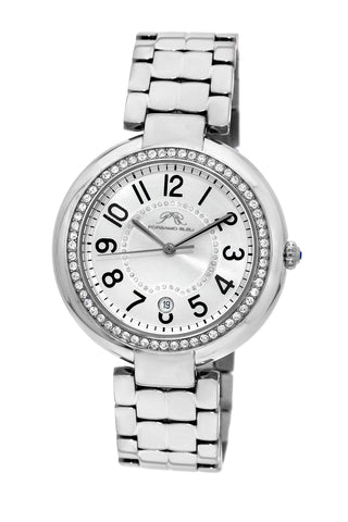 Porsamo Bleu Sofia luxury women's stainless steel watch, silver, white 951ASOS
