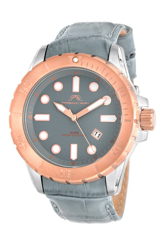 Porsamo Bleu Tommy luxury men's watch, genuine leather band, rose, grey 633ATOL