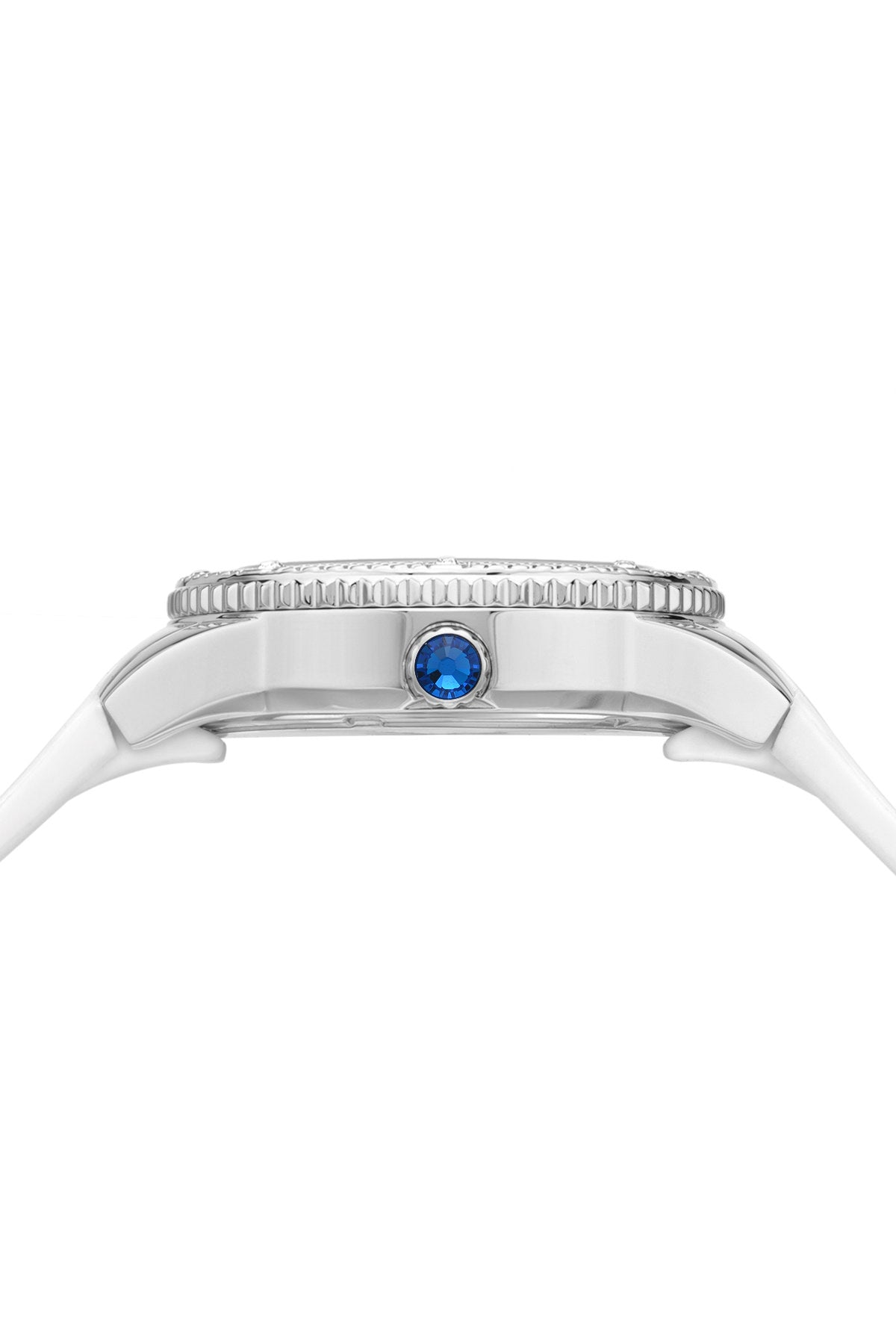 Porsamo Bleu Linda luxury women's watch, silicone strap, silver, white 491ALIR