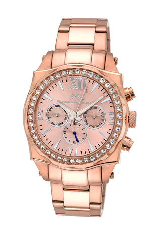 Porsamo Bleu Milan Crystal luxury women's stainless steel watch, Swarovski® crystals, rose, 038BMCS