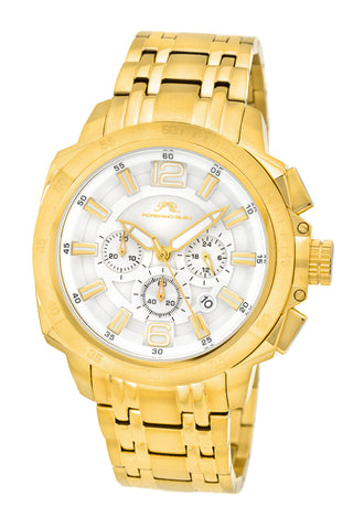 Porsamo Bleu Olivier luxury chronograph men's stainless steel watch, gold 321BOLS