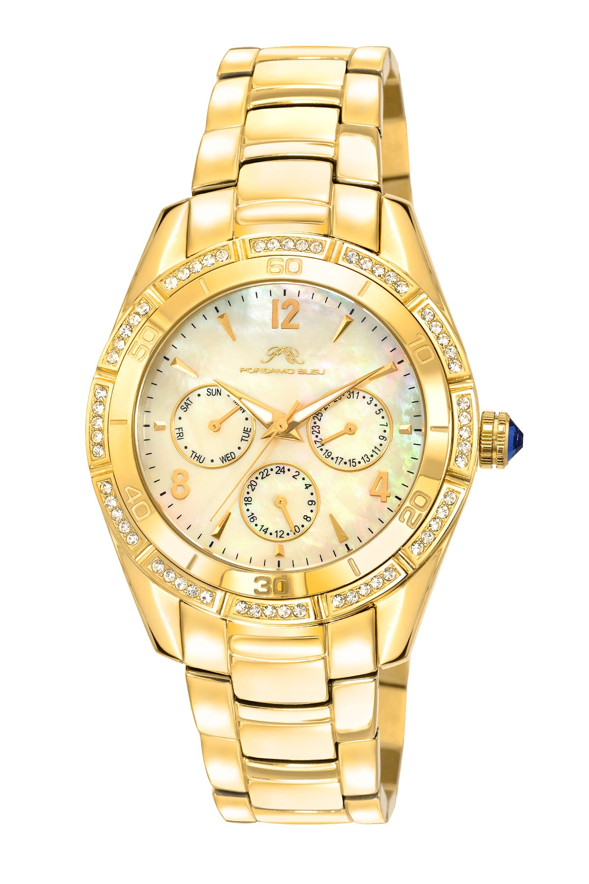 Porsamo Bleu Valentina luxury women's stainless steel watch, gold, white 541BVAS