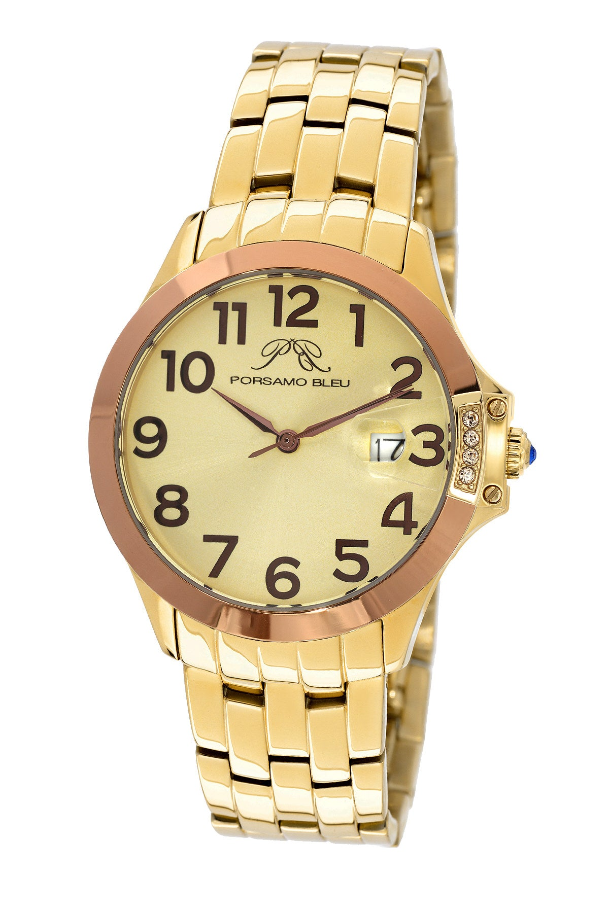 Porsamo Bleu Olivia luxury women's stainless steel watch, gold, rose 983AOLS