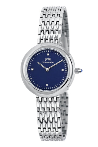 Porsamo Bleu Florentina luxury diamond women's stainless steel watch,  blue, silver 902AFLS