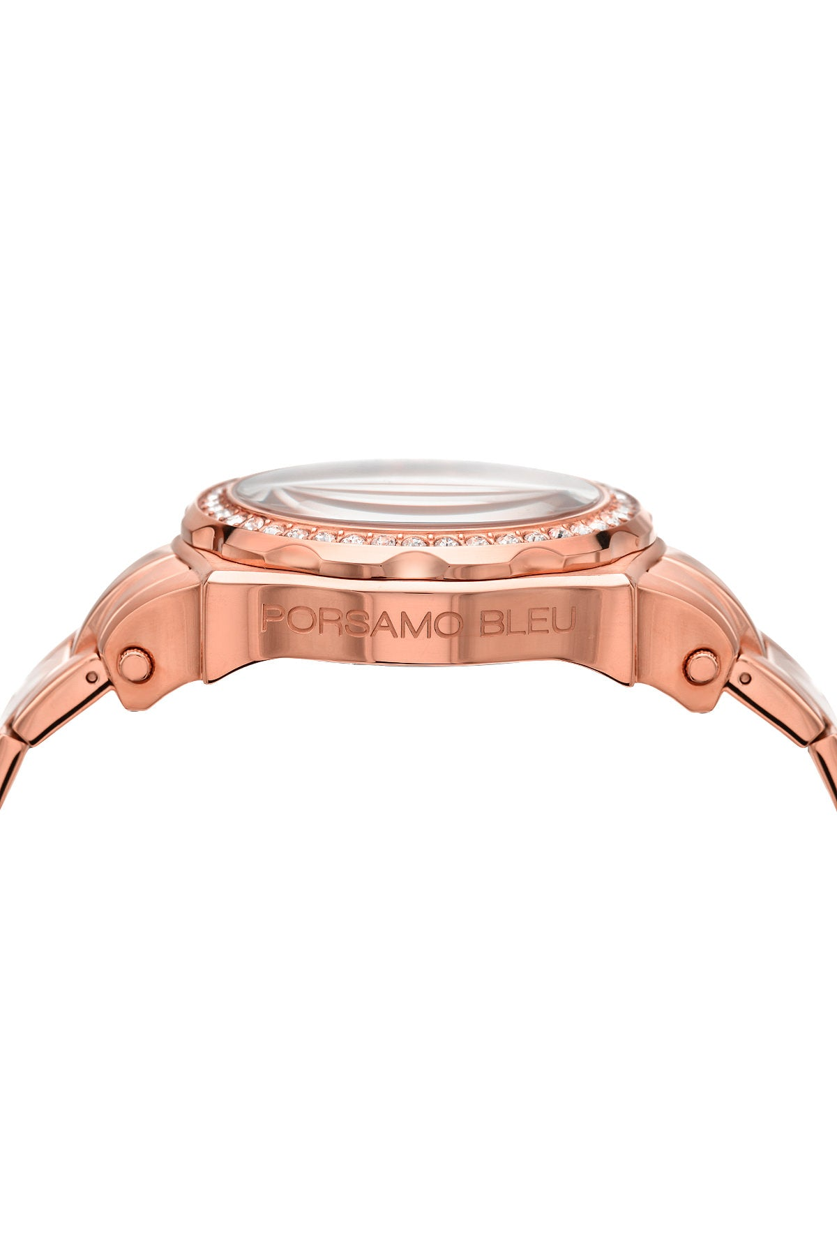Porsamo Bleu Milan Crystal luxury women's stainless steel watch, Swarovski® crystals, rose, 038GMCS