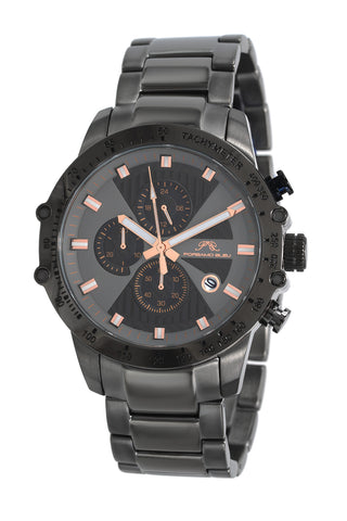 Porsamo Bleu Aiden luxury chronograph men's stainless steel watch, grey, rose 361CAIS
