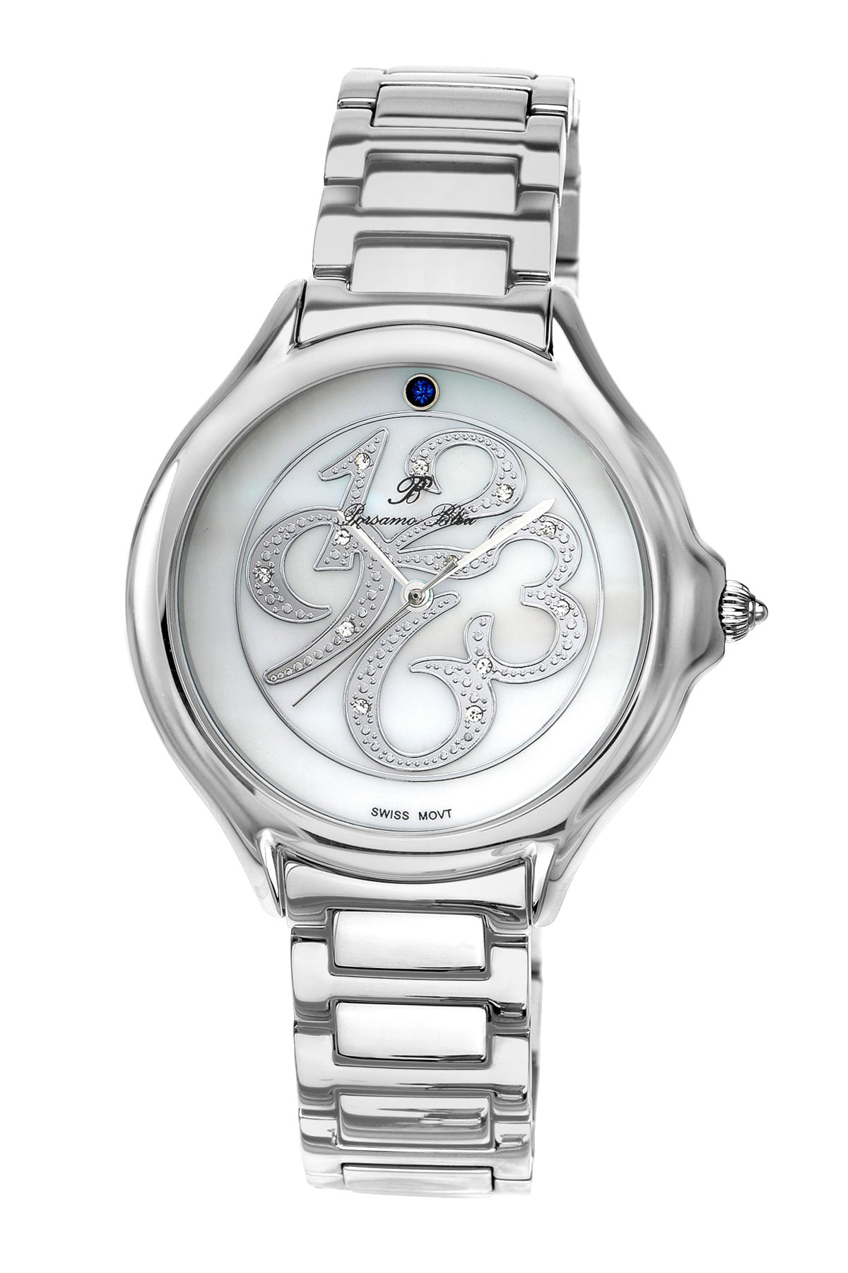 Porsamo Bleu Paris luxury diamond women's stainless steel watch, silver 132APAS
