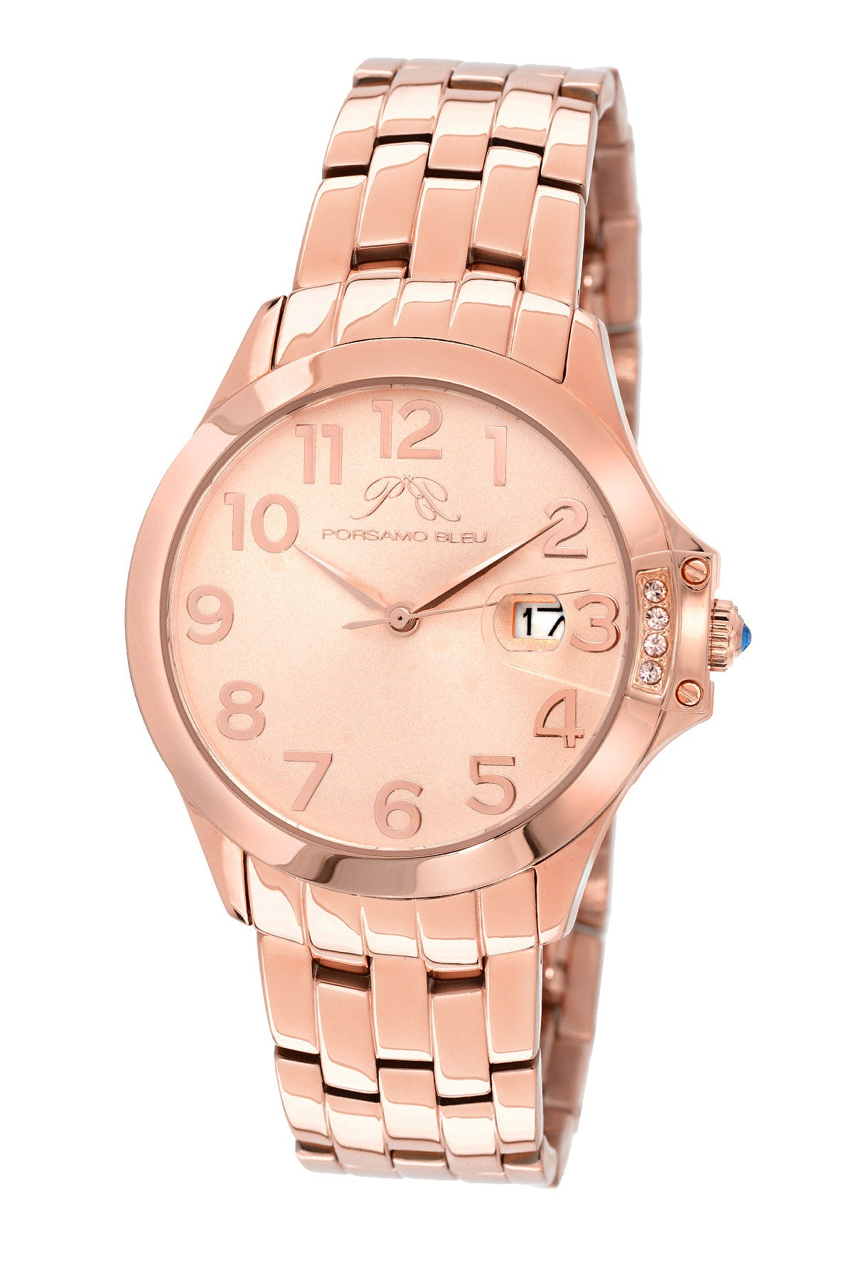 Porsamo Bleu Olivia luxury women's stainless steel watch, rose 981COLS