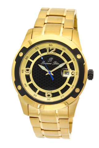 Porsamo Bleu Tokyo luxury Automatic men's stainless steel watch, gold, black 173BTOS
