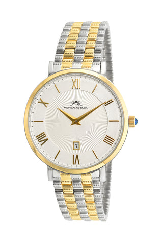 Porsamo Bleu Antonia luxury slim women's stainless steel watch, silver, gold 432AANS