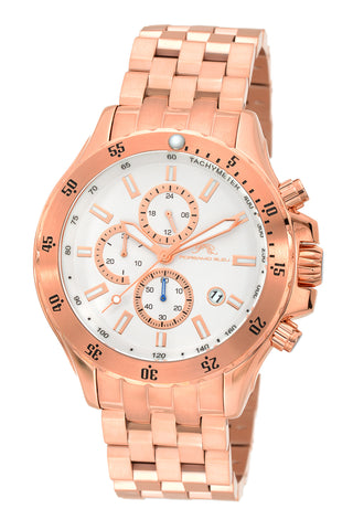 Porsamo Bleu Lorenzo luxury chronograph men's stainless steel watch, rose 561CLOS
