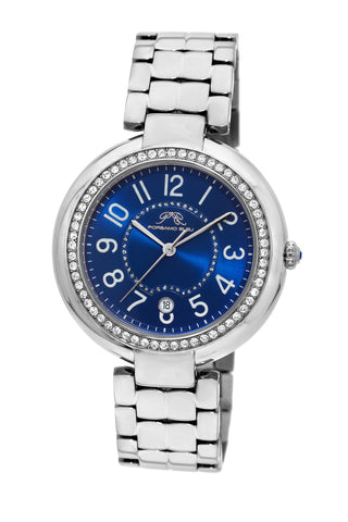 Porsamo Bleu Sofia luxury women's stainless steel watch, silver, blue 952ASOS