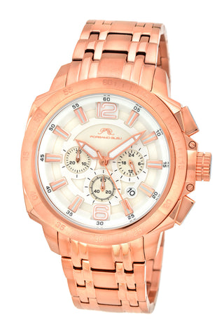 Porsamo Bleu Olivier luxury chronograph men's stainless steel watch, rose 321COLS
