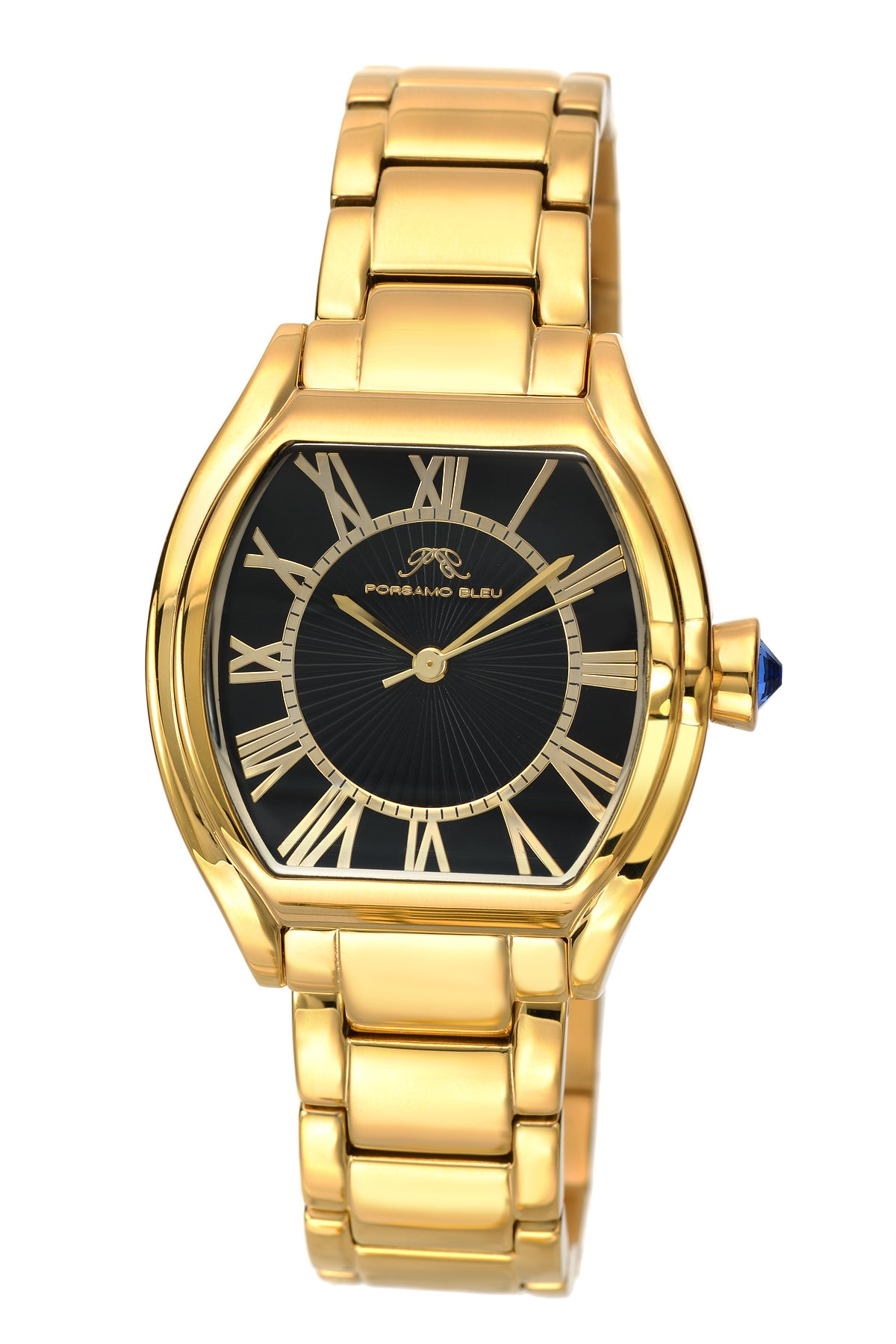 Porsamo Bleu Isabel luxury women's stainless steel watch, gold, black 181BISS
