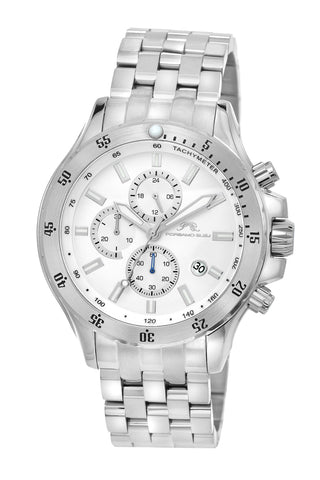 Porsamo Bleu Lorenzo luxury chronograph men's stainless steel watch, silver 561ALOS