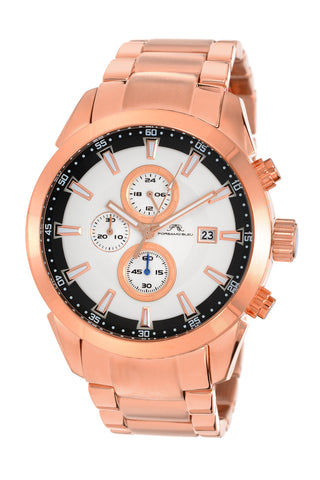 Porsamo Bleu Enzo luxury chronograph men's stainless steel watch, rose 451CENS